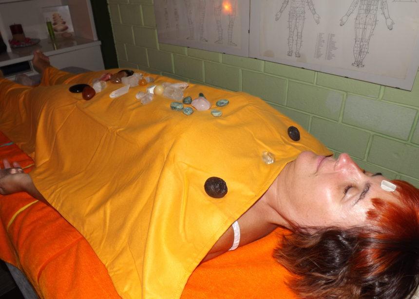 Massaggio con i cristalli