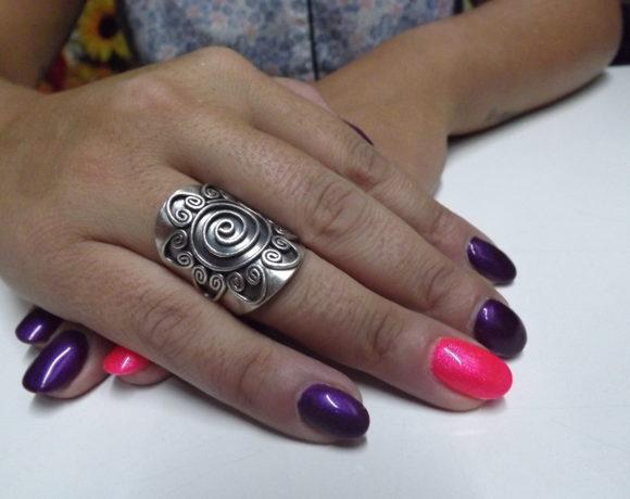 Anello argento 925 spirale