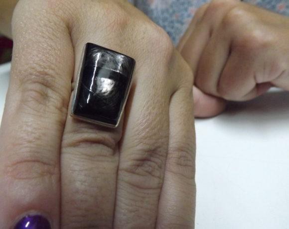 Anello argento 925 iperstene