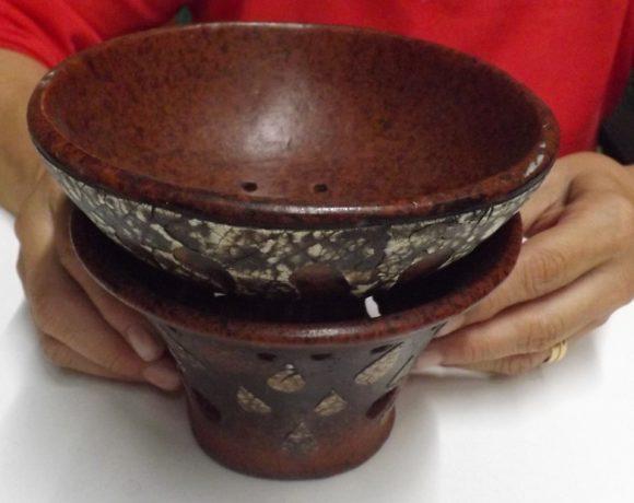 Brucia incensi tazza in cotto