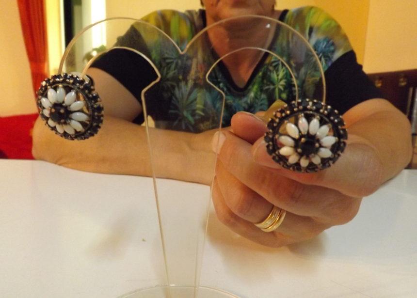 Orecchini argento 925 opali e zaffiri
