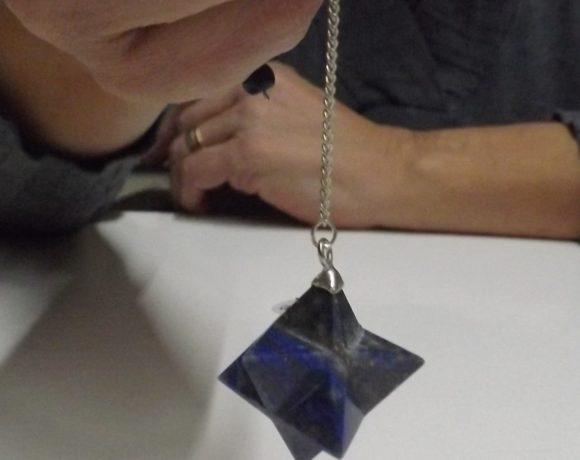 Pendolo merkaba in lapislazzuli